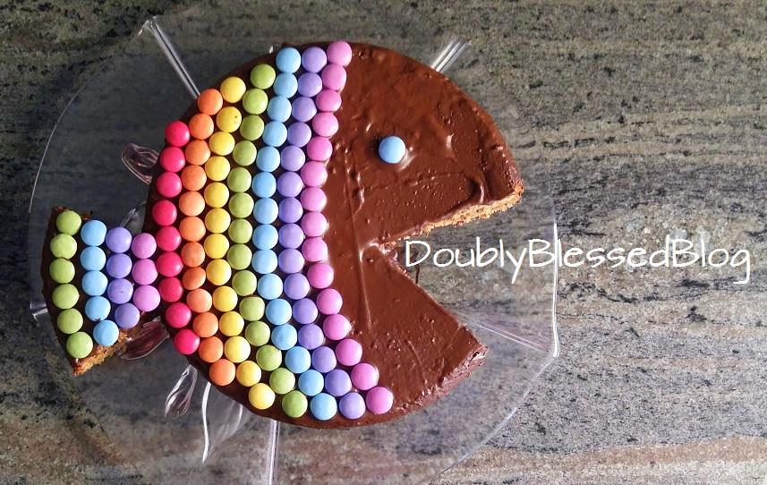 Fisch-Geburtstagskuchen mit Smarties