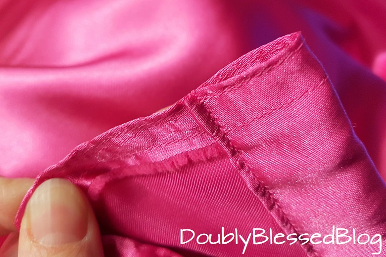 Selbstgenähter Saum für ein mitwachsendes Prinzessinnenkleid - Bund für einen Gummizug