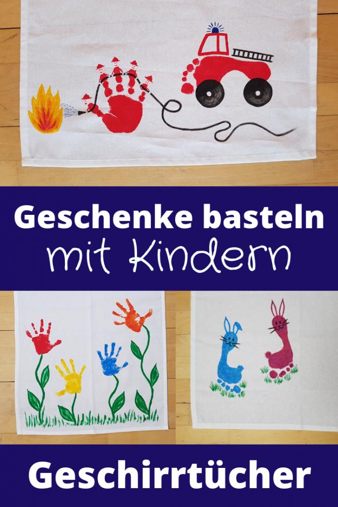 Pinterest - Geschenke basteln mit Kindern - Geschirrtuch