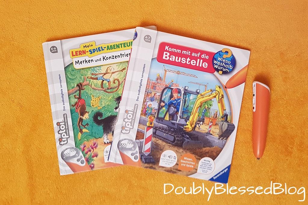 Geschenkidee für 4-jährige Mädchen und Jungen - Tiptoi Stfte mit Büchern über Baustelle und Tiergeschichten