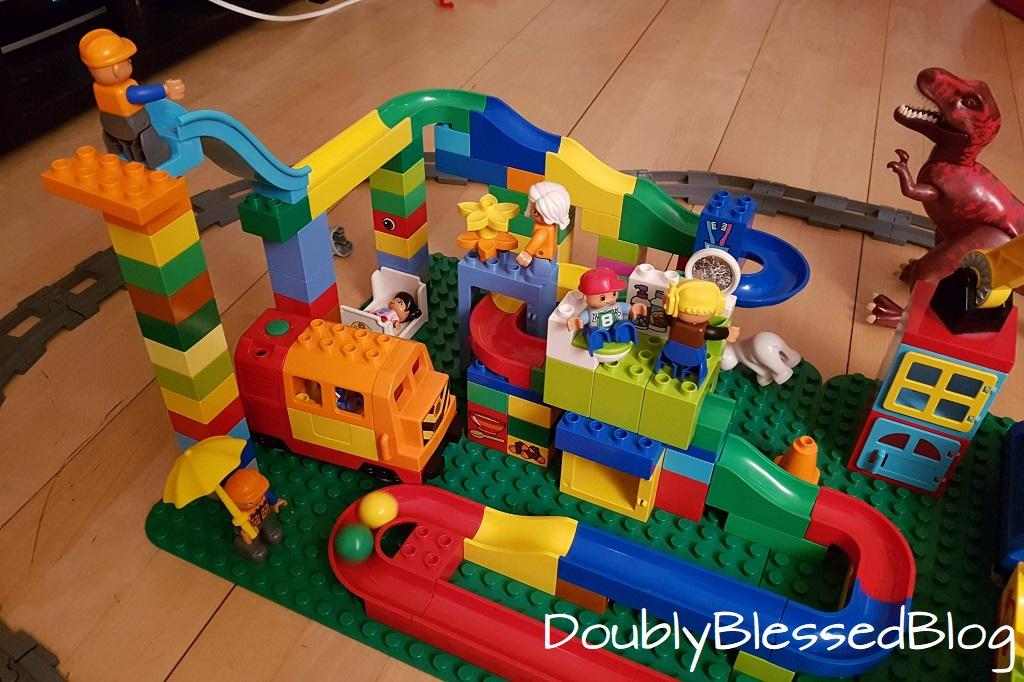 Geschenkideen für 4-jährige Jungen und mädchen - Lego Duplo kompatible Hubelino Kugelbahn
