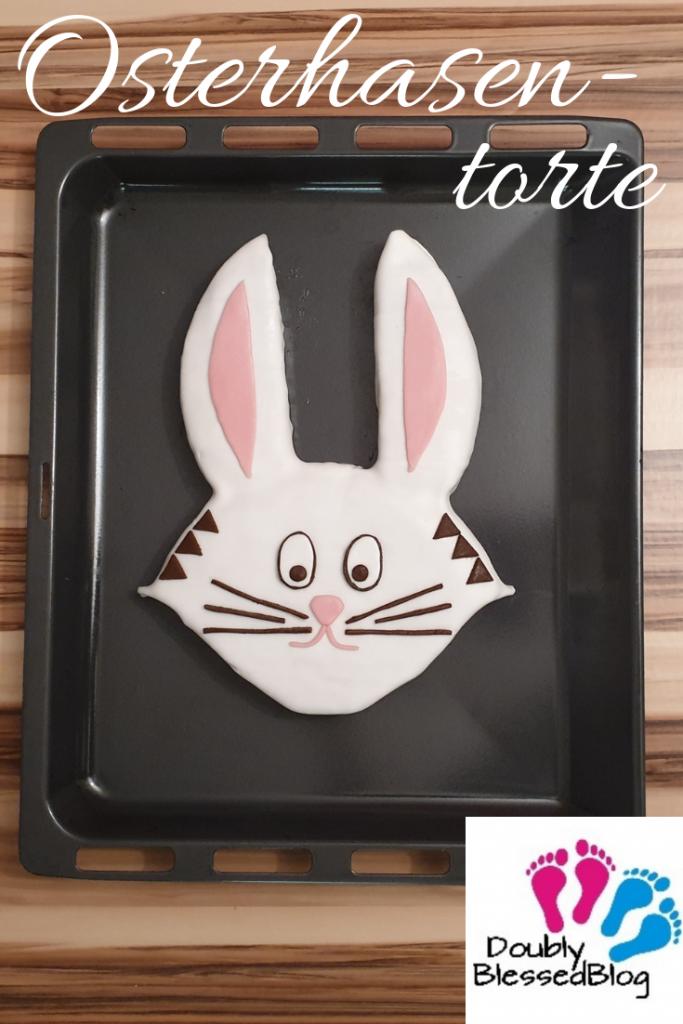 Pinterest Pin Osterhasentorte oder Hasenkuchen