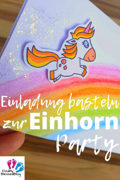 Pinterest - Einadung basteln zur Einhorn Party