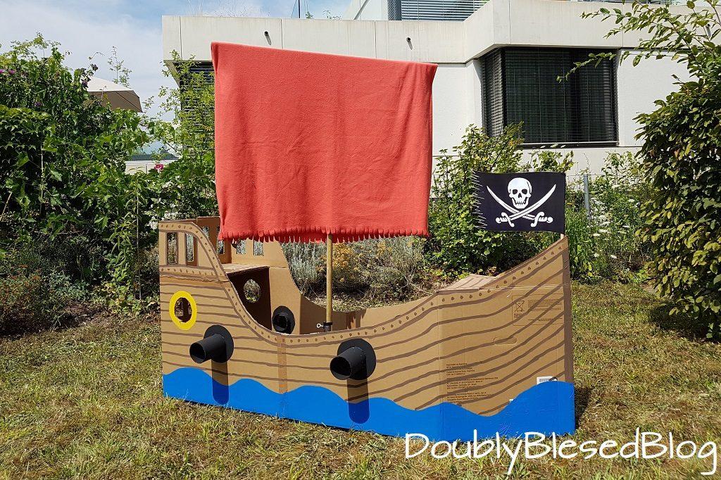 Basteln zum Kindergeburtstag, Geburtstagsparty mit Kindern, Geburtstagsfest, PIratenschiff, DIY