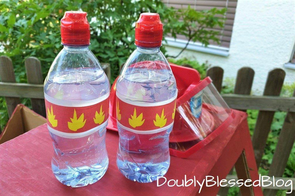 DIY Upcycling Wasserkanone Feuerwehr-Geburtstagsparty