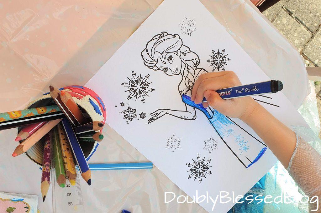 Malen am Prinzessinnengeburtstag