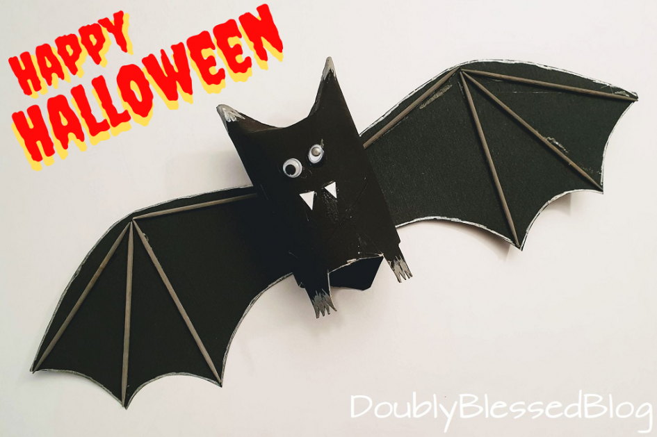 Halloween Fledermäuse basteln mit Kindern / Halloween bat crafts with kids