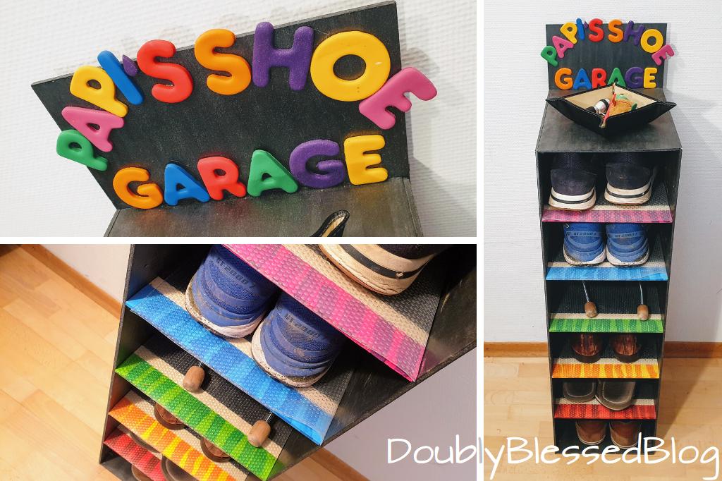 Geschenke basteln mit Kindern - Papa's Schuhgarage
