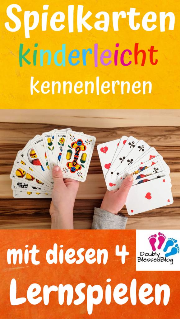 Pinterest Pin für Lernspiele der deutschen und französischen Kartenspiele