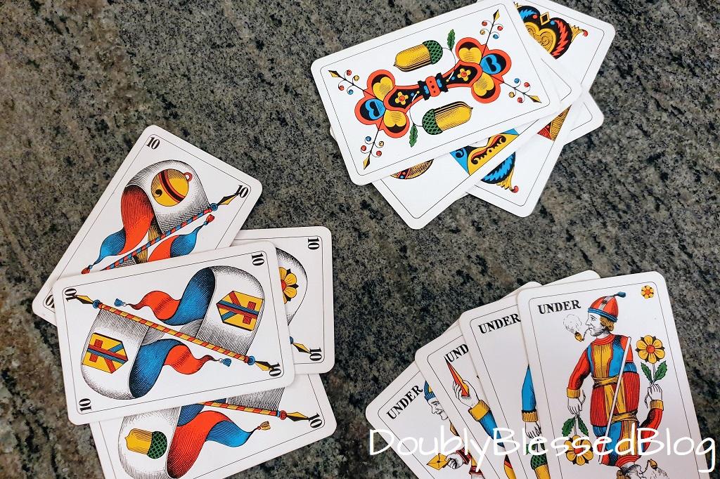 Lernspiele für Kindern - Jasskarten, Quartett