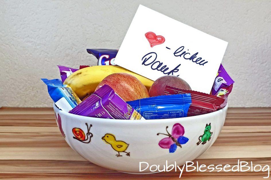 Eome Früchteschale oder Pastaschüssel für die KITA Betreuerinnen als Dankeschön
